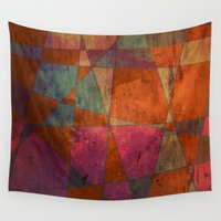 baroque Wall Tapestries featuring Baroque Cubism by Tony Vazquez