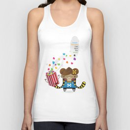 PopCorn can save the world Unisex Tank Top