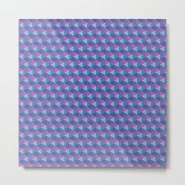Geometric abstract hexagon Metal Print