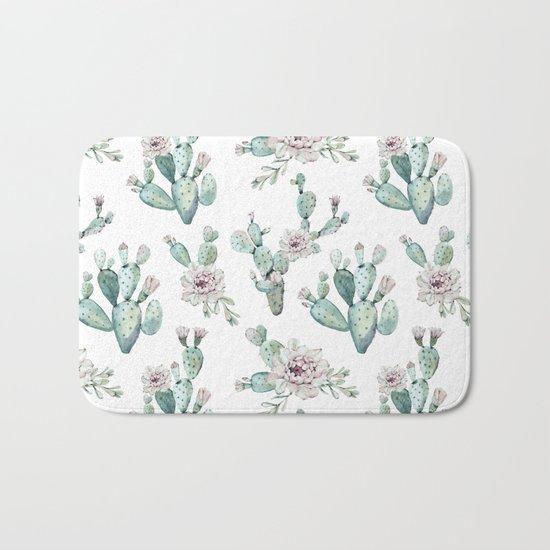 Cactus Pretty Pink + Green Bath Mat