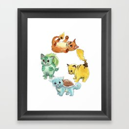 Starter Pokekittens Team Framed Art Print