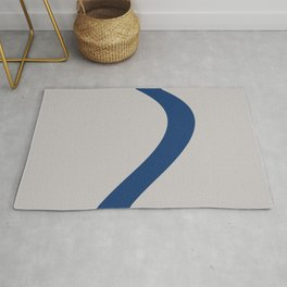 Blue Twist on Silver Rug