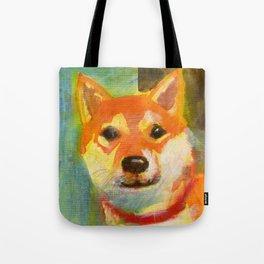 Shibainu on canvas Tote Bag