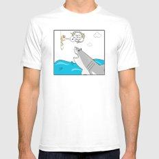 Mr. Shark Insurance Broker Ltd. MEDIUM White Mens Fitted Tee