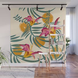 Plants Flowers and Your Orange Fruit Light Wall Mural