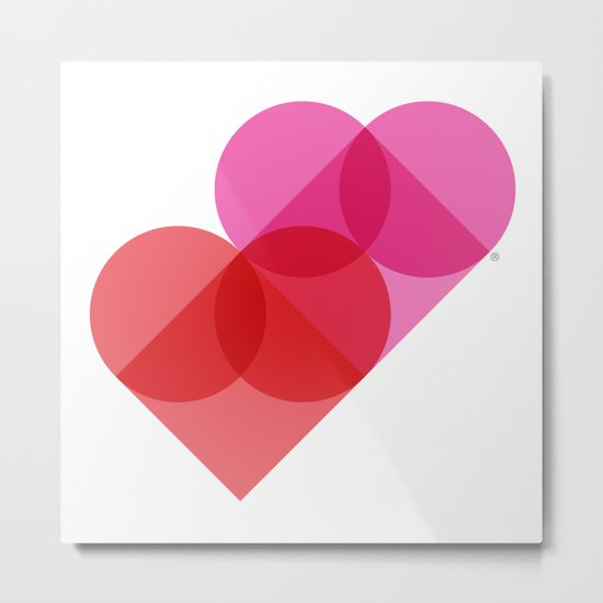 Geometric Love Metal Print