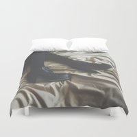 legs Duvet Covers featuring Legs by Michelle Cella