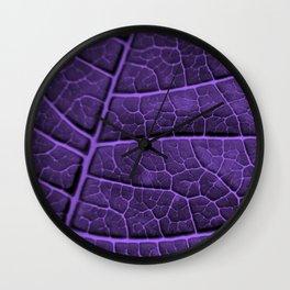 LEAF STRUCTURE ULTRAVIOLET no3 Wall Clock