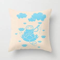 Lotus&Guitar Throw Pillow