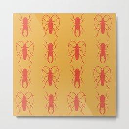 Beetle Grid V3 Metal Print