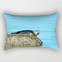 Seal pup stare-down  Rectangular Pillow