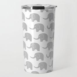 Grey Elephant Parade Travel Mug