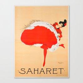 Vintage poster - Saharet Canvas Print