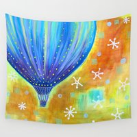 balloon Wall Tapestries featuring Balloon by Carolina Coto Art