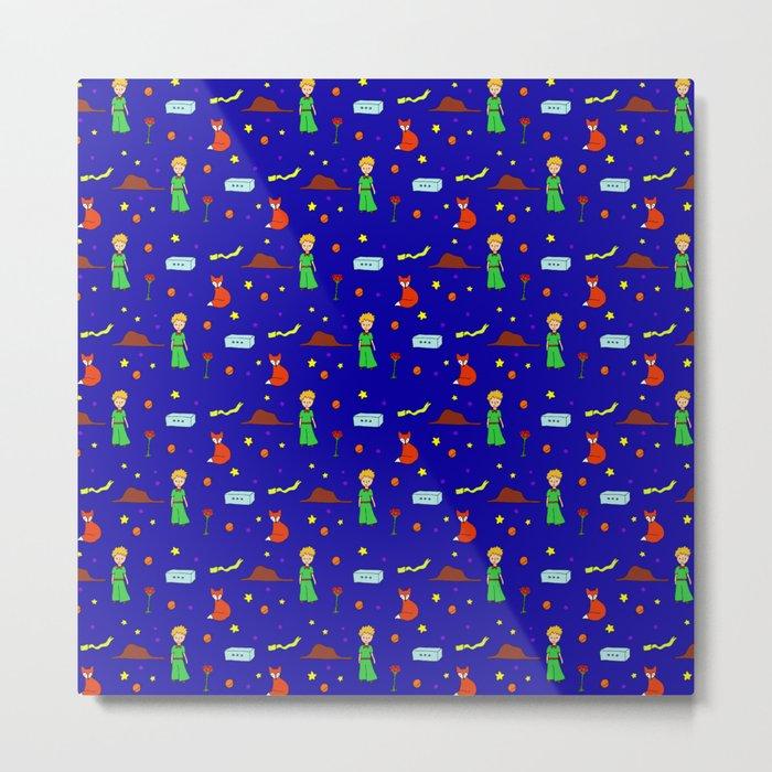 """The Little Prince"" Pattern Metal Print"
