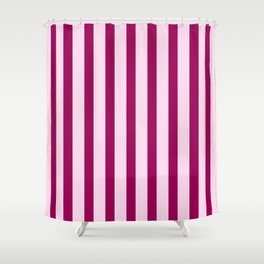 Happy Place Candy Stripes in Pink Shower Curtain
