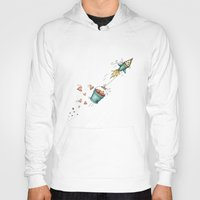 rocket Hoodies featuring Rocket by Catru