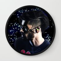 zayn Wall Clocks featuring Zayn OTRA by Clara J Aira