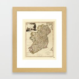 Map of Ireland by William Faden (1797) Framed Art Print