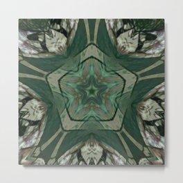 The Green Unsharp Mandala 2 Metal Print
