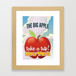 New York Big Apple travel poster Framed Art Print