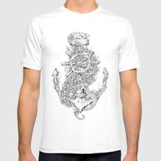 Into The Deep White LARGE Mens Fitted Tee