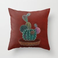 family Throw Pillows featuring Family by Min Roh