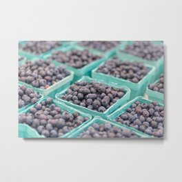 Blueberries on Saturday Morning Metal Print