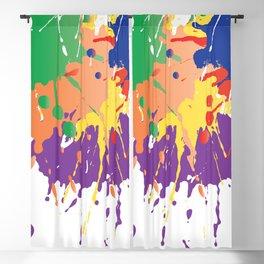 Colourful Paint splash Blackout Curtain