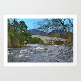 Bridge of Dee, Brig O Dee, River Dee, Balmoral, Scotland Art Print