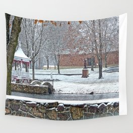 Duck Pond at Ste. Marie Du Lac Wall Tapestry