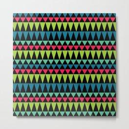 Neon Southwestern Pattern Metal Print