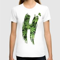 marijuana T-shirts featuring Marijuana H by Spyck