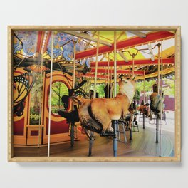 Fox Carousel Boston Greenway Carnival Merry-go-round Serving Tray