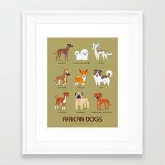 AFRICAN DOGS Framed Art Print