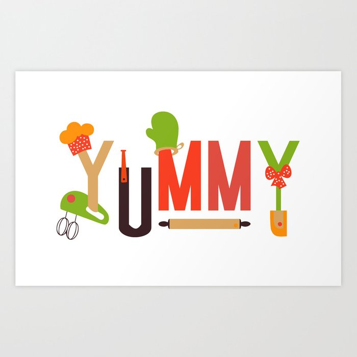 Yummy Art Print Set Kitchen Art Living Room Interior Design Printing For  Wall Home Decor In