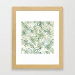 Green Tropical Leaves Framed Art Print