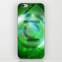 green lantern iPhone & iPod Skins featuring Green Lantern by Tobia Crivellari