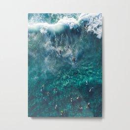 Surfing in the Ocean 2 Metal Print