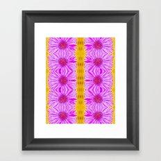 Purple Aster Flowers Framed Art Print