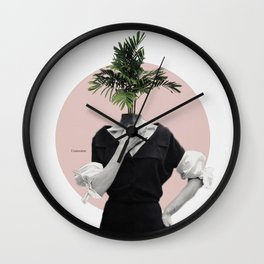 Lady with flowers Wall Clock