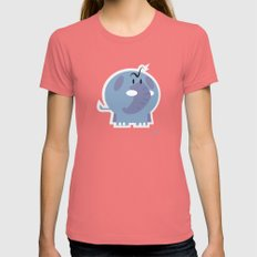 Angry Elefant Womens Fitted Tee LARGE Pomegranate