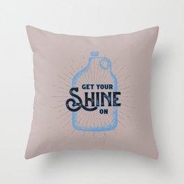 Get your SHINE on Moonshine Jug Throw Pillow