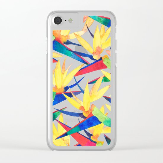 Summer Tropics Clear iPhone Case