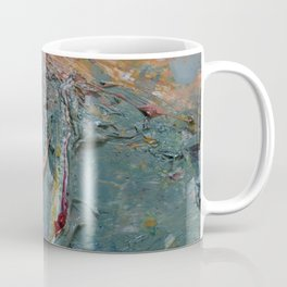 Background from multi-coloured oil. Coffee Mug