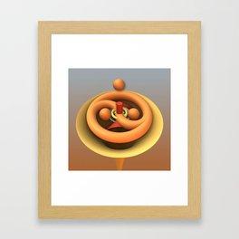 Ying and Yang fractal 3-d art Framed Art Print