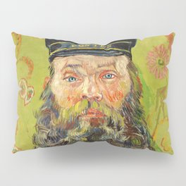 The Postman (Joseph Roulin) (1888) by Vincent Van Gogh. Pillow Sham