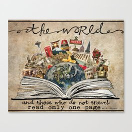 The World Is A Book Canvas Print