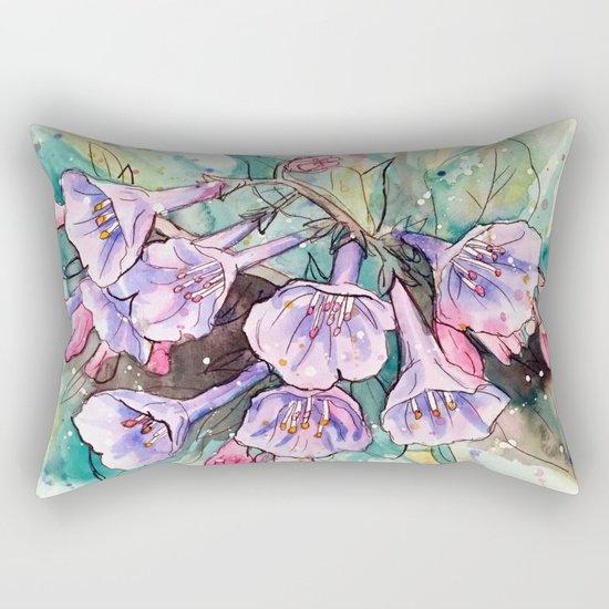 virginia bluebells Rectangular Pillow