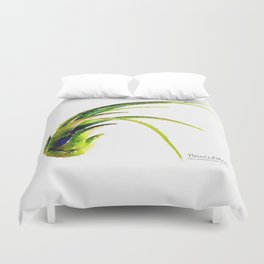 Tillandsia Paucifolia Air Plant Watercolors Duvet Cover